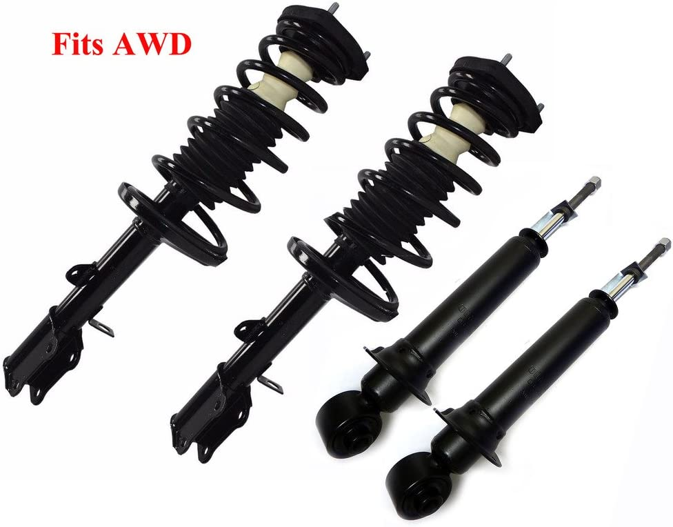 Front /& Rear Quick Complete Struts /& Coil Spring Assemblies Compatible with 2003-2008 Pontiac Vibe FWD Set of 4