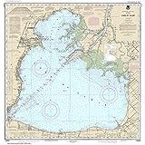 """Noaa Chart 14850 Lake St. Clair: 33.82"""" X 32.42"""" Laminated Map"""