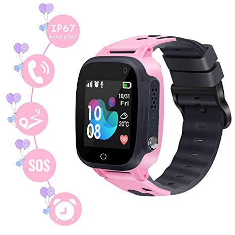 GUANLV Kids Smart Watch Phone Waterproof Smartwatch with GPS Tracker Touch Screen SOS Remote Call Game Smart Watch Camera Two-Way Call Digital Watch ...