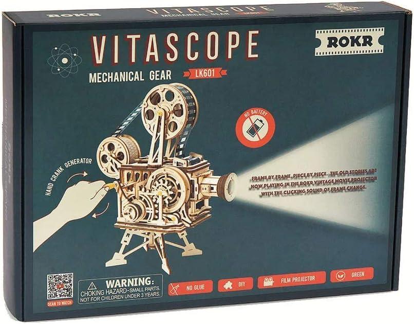 DIY Wooden Crafts Vitascope Handmade Film Projector Gear Kits Home Decor