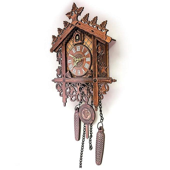 Homyl Reloj de Pared Silencioso Reloj de Cuco, Estilo Vintage de Madera Colgante Decoración Sala de Estar - 2: Amazon.es: Hogar
