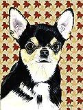 Caroline's Treasures SC9239CHF Chihuahua Fall Leaves Portrait Flag Canvas, Large, Multicolor
