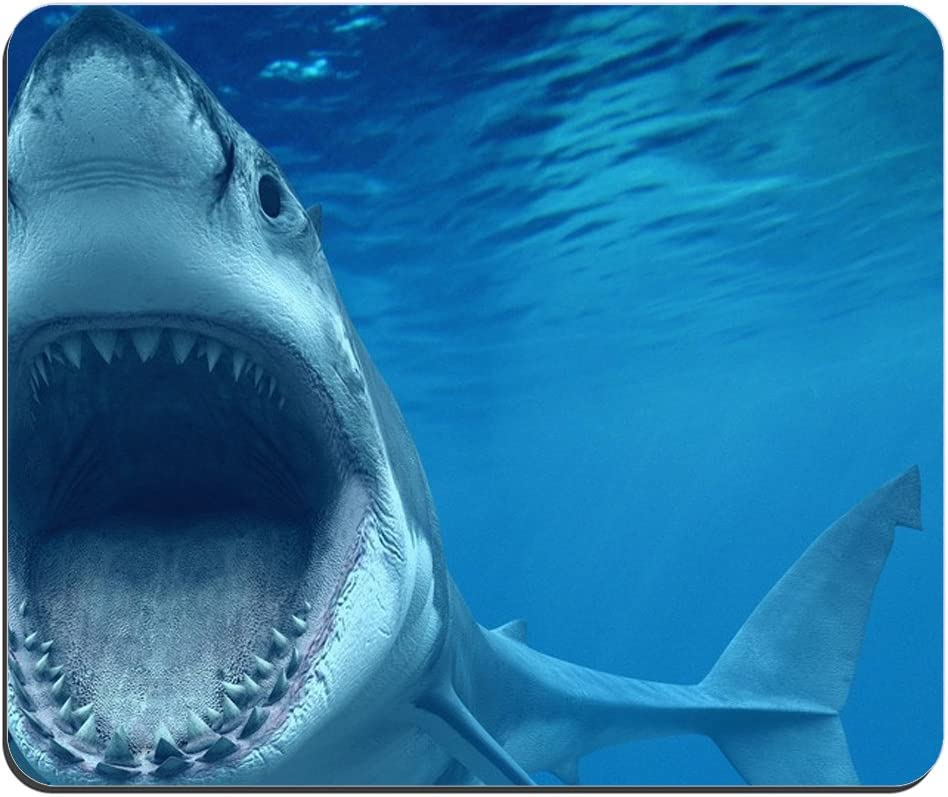 Great White Shark Mouse Pad, Mousepad (Fish Mouse Pad)