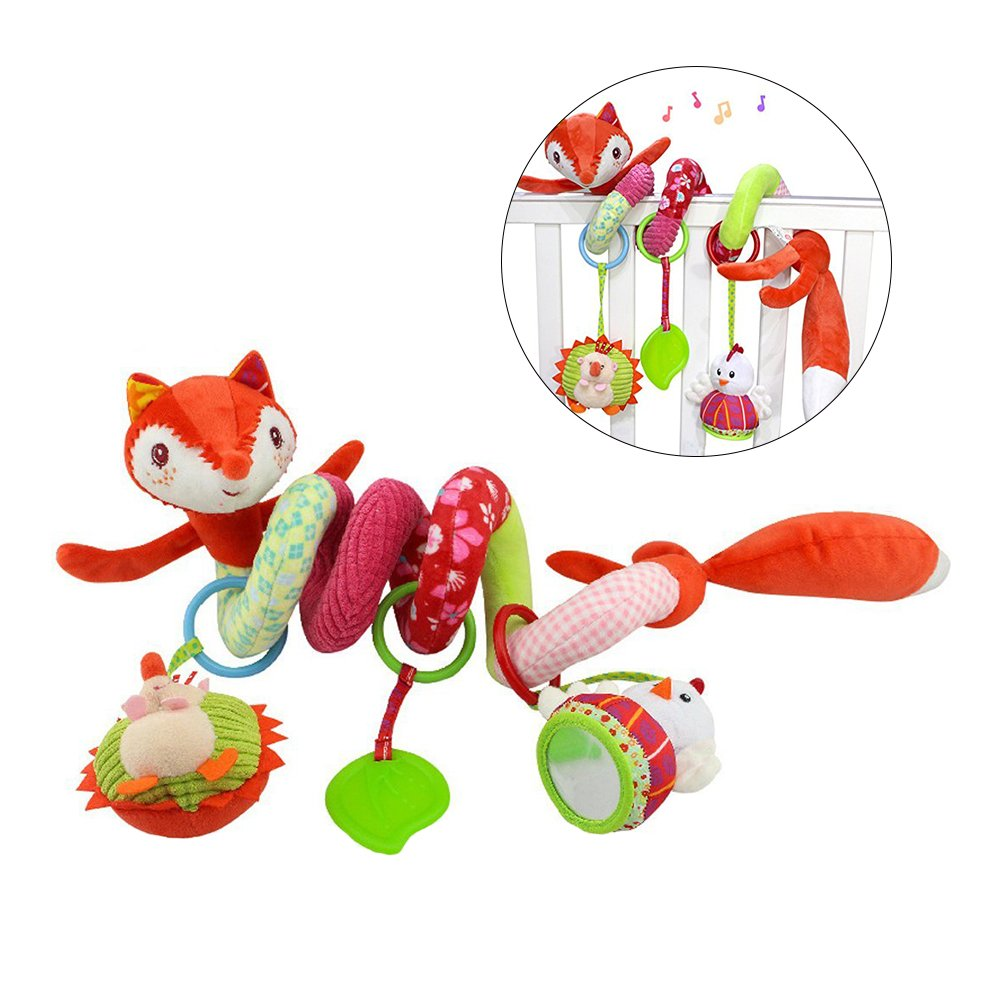 TOYMYTOY Activity Spiral Crib Toys Pendentif, poussette Spirale Jouets pour Baby Car Seat Toys