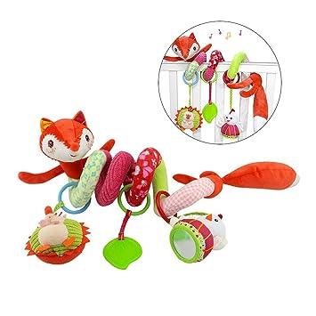 Amazon.com : TOYMYTOY Activity Spiral Crib Hanging Toys, Spiral ...