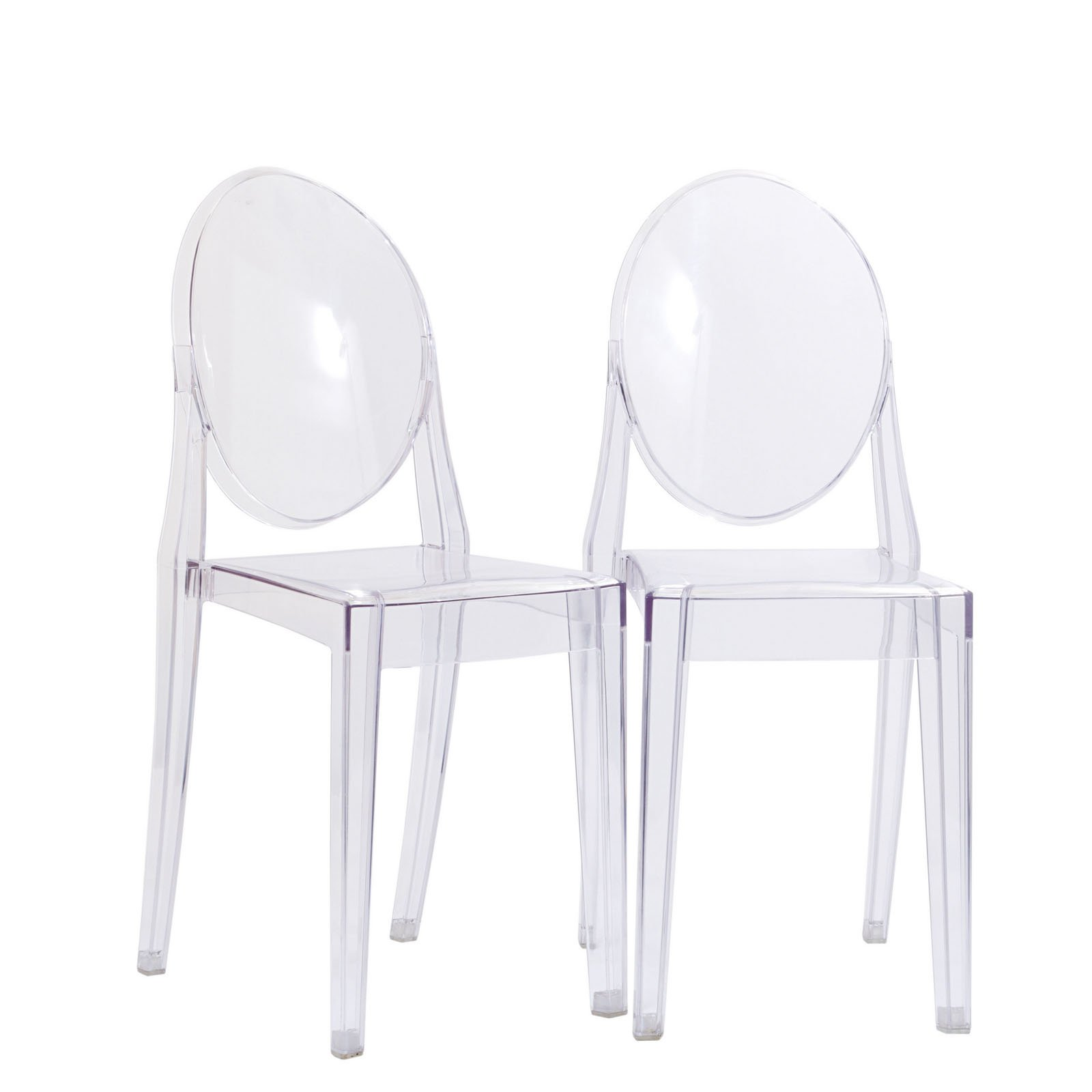 Modway Casper Modern Acrylic Dining Side Chairs in Clear - Set of 2 by Modway