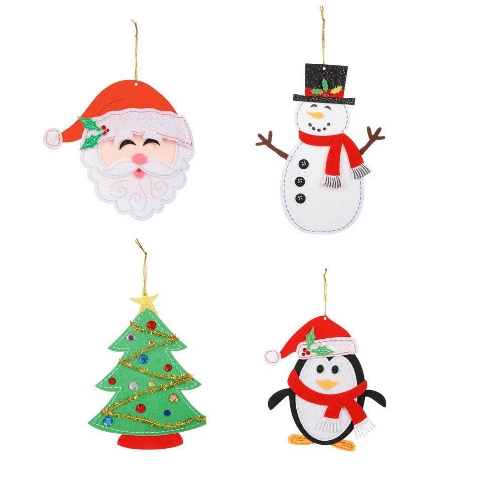 amazon com felties felt ornaments christmas activity craft kits
