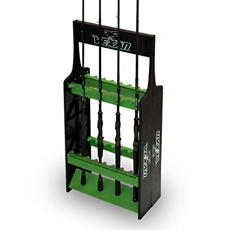 Vexan Super 16 Fishing Rod Rack   Perfect For Bass, Walleye, Crappie, Musky