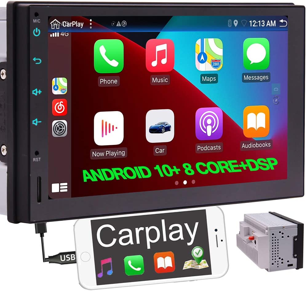 4 years warranty Ranking TOP6 Android 10 Double Din Car Stereo Androi Carplay with Wired Radio