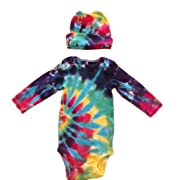 BMD -Gerber Tie Dye Infant Long Sleeve Onesie Set by BMD, Newborn to 24 Months (Small)