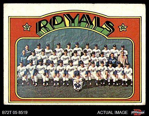 - 1972 Topps # 617 Royals Team Kansas City Royals (Baseball Card) Dean's Cards 4 - VG/EX Royals