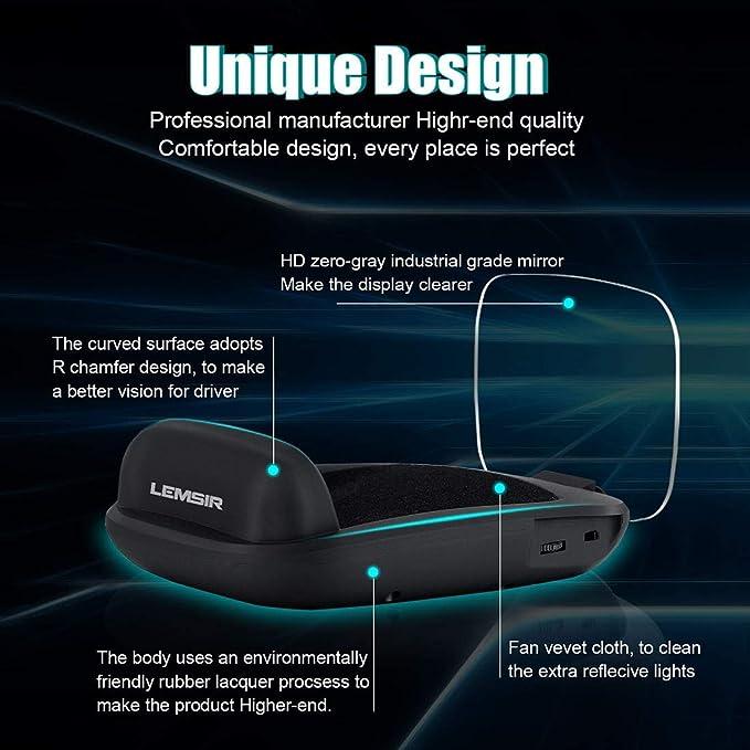Amazon.com: LEMSIR C800 C800 C800 Head HUD - Parabrisas para ...