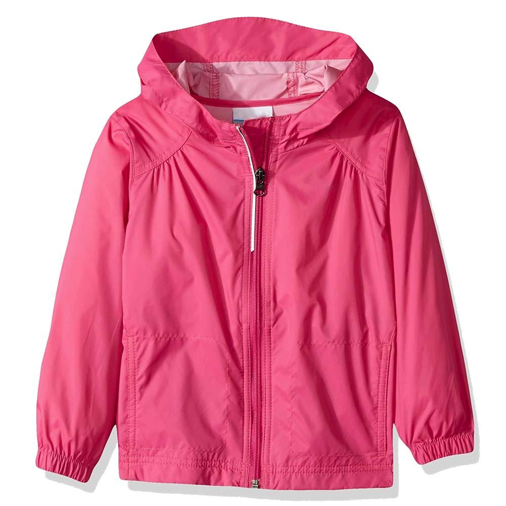 Toomett Girls Kid Waterproof Lightwight Jacket Outwear Raincoat with Hooded,#92055, Rose Fushia,US L