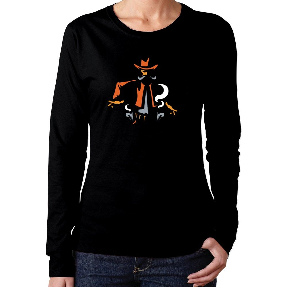 Women's Osu Oklahoma State Cowboys Clipart Tshirts Long Sleeves
