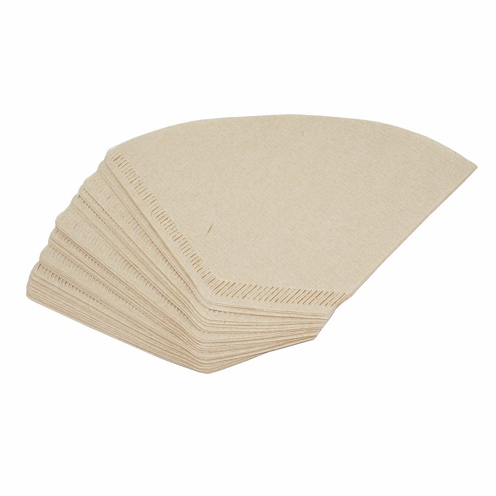 Bamboo Coffee Filter Holder Coffee Paper Storage Rack Coffee Filter Paper Container Stand Size 4 Filter Paper Holder (80pcs Filter Paper)