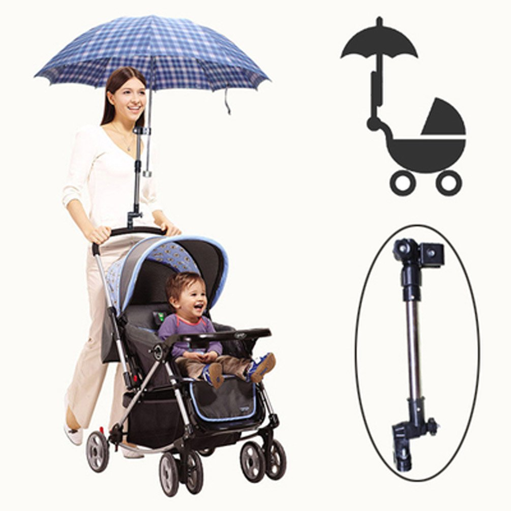 Stroller Umbrella Holder Bracket Pram Adjustable Stroller Chair Umbrella Bar Holder Feiwu