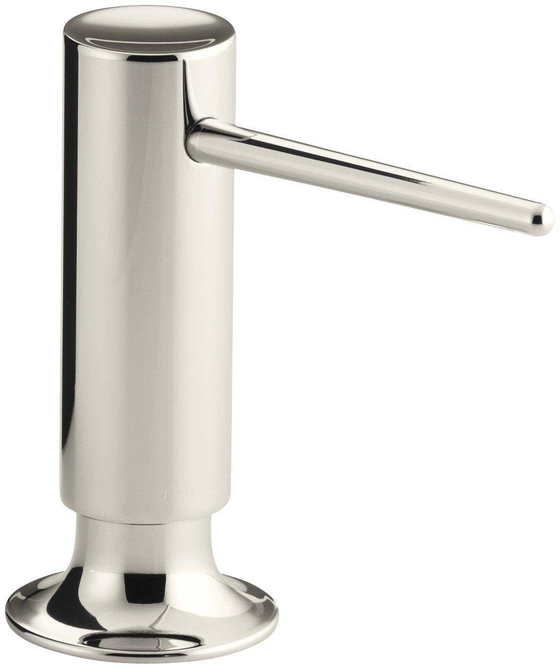 KOHLER K-1995-SN Contemporary Design Soap/Lotion Dispenser, Vibrant Polished Nickel