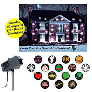 The Amazing New Christmas U0026 All Holidays Outdoor Motion And Light Projector  Lighting