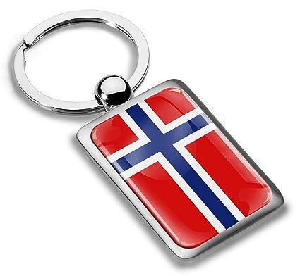 Skino Llavero de Metal con diseño de la Bandera de Noruega ...