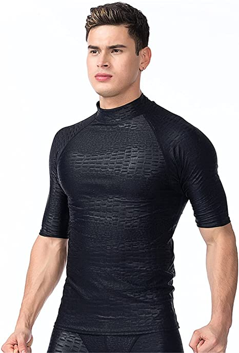Fortunings JDS® Protección solar para trajes de baño de hombre Rashguard camisa de baño: Amazon.es: Deportes y aire libre