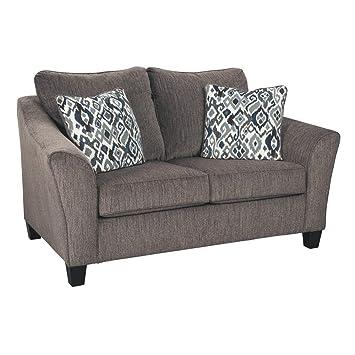 Brilliant Amazon Com Signature Design By Ashley Nemoli Loveseat Machost Co Dining Chair Design Ideas Machostcouk