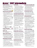 Microsoft Access 2007 Intermediate Quick Reference Guide (Cheat Sheet of Instructions, Tips and Shortcuts - Laminated Card), Beezix Inc, 1934433721