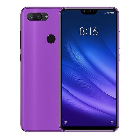 TBOC Funda de Gel TPU Morada para Xiaomi Mi 8 Lite - Mi8 Lite (6.26