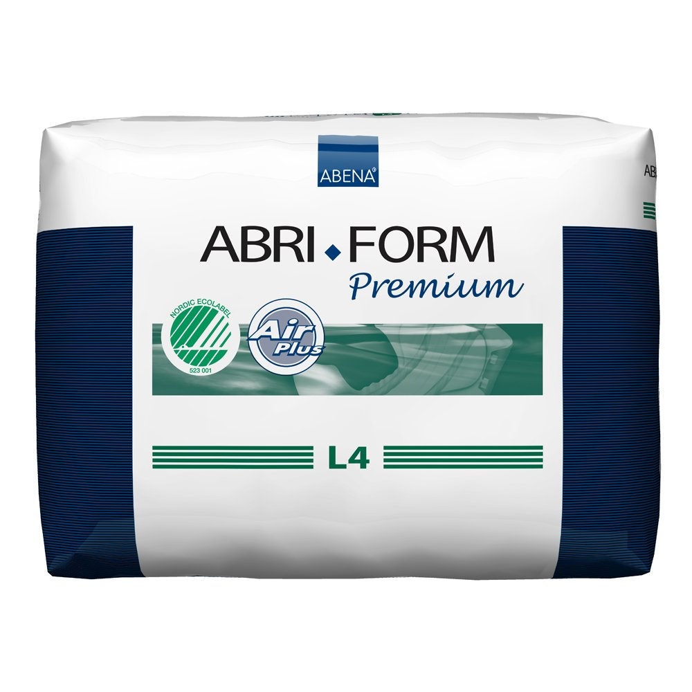 Abena Abri-Form Premium Incontinence Briefs, Large, L4, 12 Count