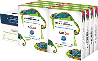 product image for Hammermill Cardstock, 80 lb, 216 GSM, Premium Color Copy, 8.5x11-8 Pack (2000 Sheets) - 100 Bright, Made In The USA Card Stock