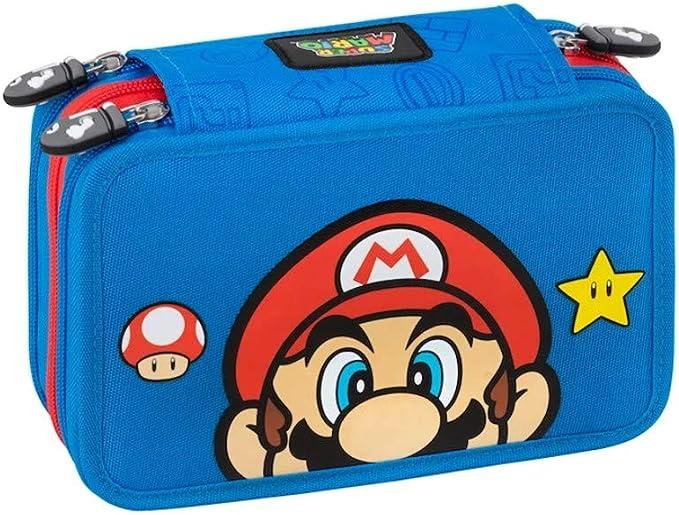 Super Mario - Estuche con 3 cremalleras: Amazon.es: Oficina y papelería