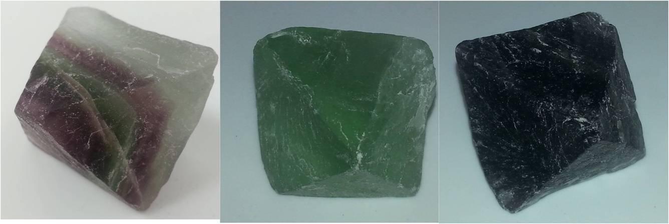 Fluorite Octahedron Rock 2 Inch w Info Card