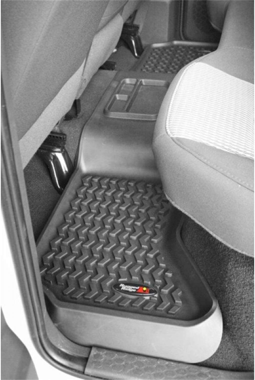 06-11 2500 // 3500 Mega Cab 03-11 1500 // 2500 // 3500 Regular Cab 2002-2011 Dodge Ram 1500 Quad Cab Black Rugged Ridge 82903.01 All Terrain Floor Liner Front