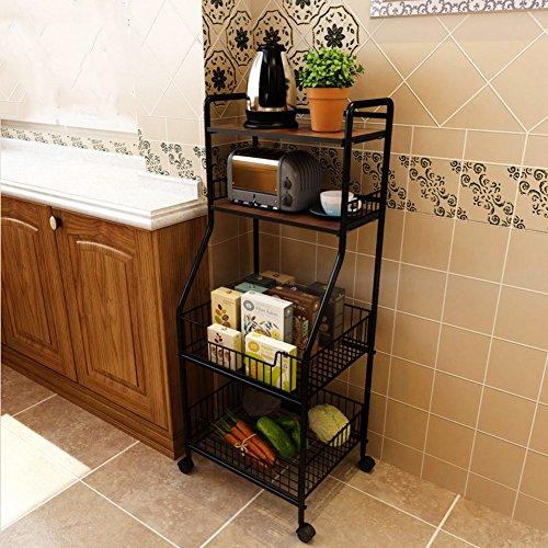 DULPLAY Almacenaje bajo balda,El Hierro Estante de la Cocina Múltiples Funciones Simple hogar Estante del almacenaje Foor...