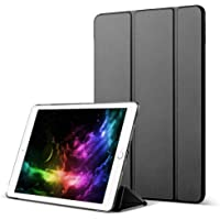 Kenke 2017/2018 iPad Protective Cover, Ultrathin Anti-broken Trifold Stand, Anti-scratch Transparent Hard Case with Auto Wake, 9.7-inch iPad 5th\6th Generations (Model A1822\A1823\A1893\A1954) ( Black)