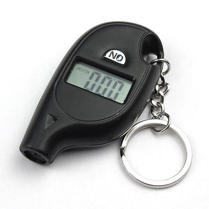 Mini Schwarz Keychain LCD Digital Reifen Reifen Luftdruckprüfer Für Auto  AB