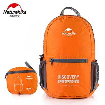 4e01fd6d04 Amazon.com   Naturehike Discovery Men Women Travel Backpack Lightweight  Foldable Backpack Waterproof 15L Only 250g For Outdoor Sports Camping  Hiking ...