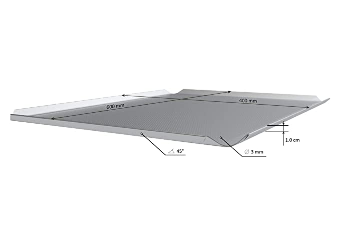 LEHRMANN Set de 3 Bandejas perforadas 60 x 40 cm Placa para la ...