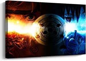 Pangoo Art Japanese Anime Naruto Art Decor Framed Print Canvas Poster Painting Wall Decor 12 x 16 Inch
