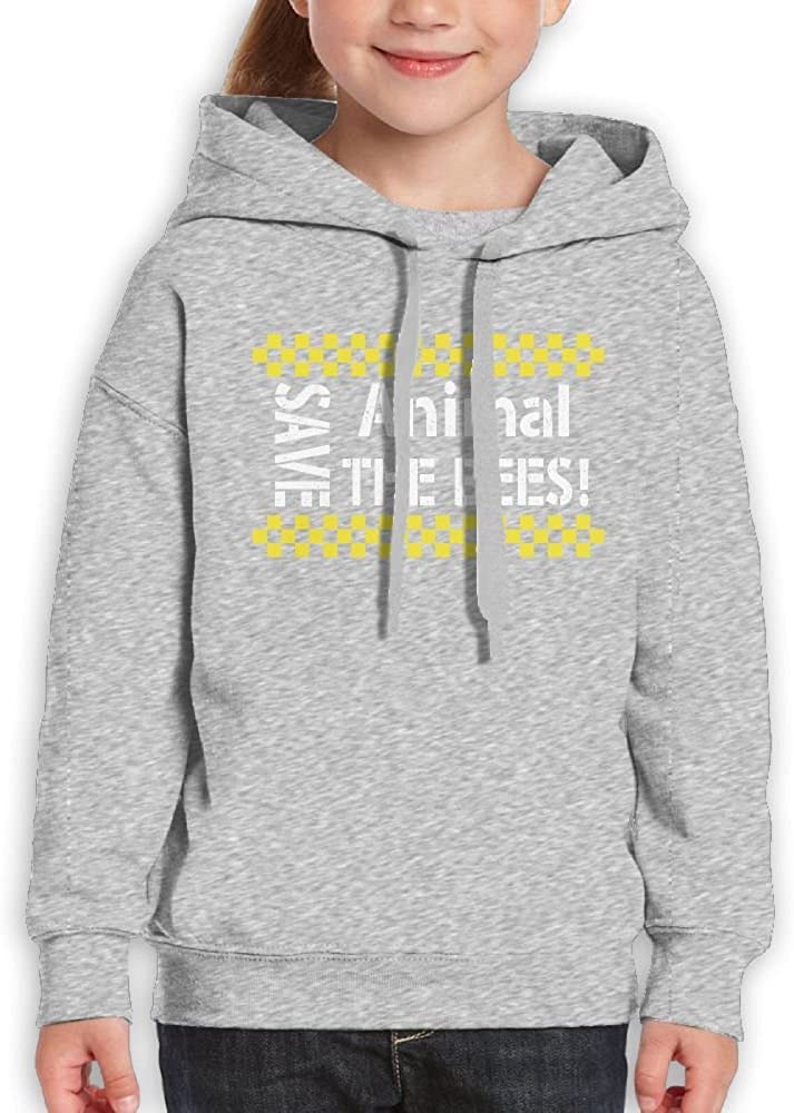 Best Graphic Printed Long Sleeve Hoodie For Youth Spring Autumn Winter DTMN7 Animal Save The Bees Nature
