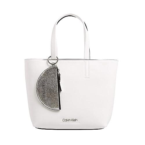 Calvin Klein CK Must Medium Shopper Bag Bright White: Amazon