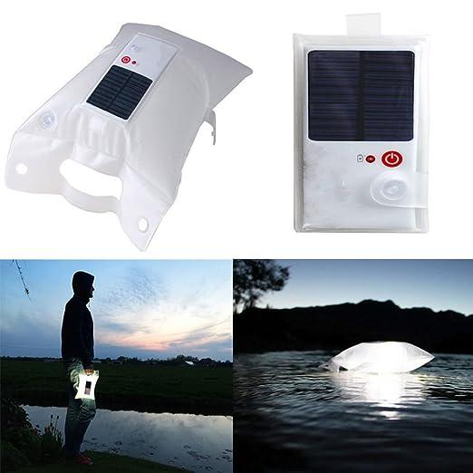 DeKaWei hinchable IP67 Camping luz Solar Powered LED linterna ...