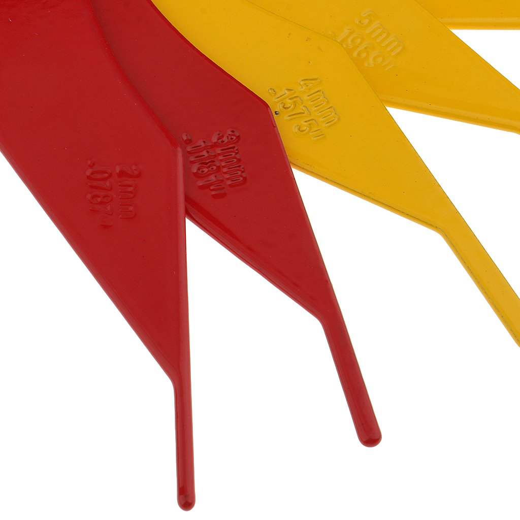MagiDeal New 5.12 Inch Brake Lining Thickness Gauge Measure Ruler Brake Pad Scale Kit