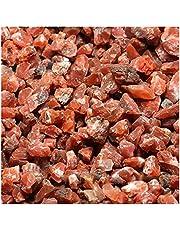 IASHNPIN Kryształ szorstki 100 g naturalny czerwony agat kryształ kryształ onyks gruby kamień mineralny (rozmiar: 100 g)
