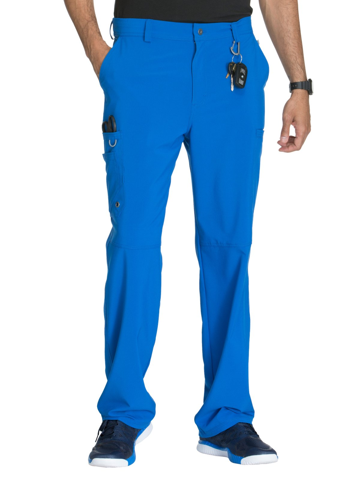 Cherokee Infinity CK200A Men's Fly Front Cargo Pant Royal L Short
