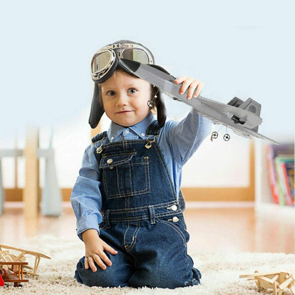FX-822 F22 RC Avion en mousse EPP t/él/écommand/é avec t/él/écommande et c/âble de chargement Mod/èle avion de chasse pour enfants et d/ébutants Cadeaux de No/ël gris