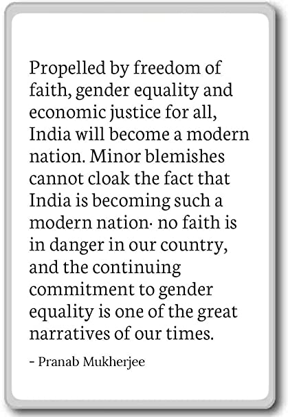 Gender Equality Quotes Simple Amazon Propelled By Freedom Of Faith Gender Equa Pranab