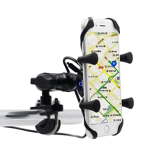 4 opinioni per Samoleus Universale Rotante Cellulare Moto Motocycle Supporto con Porta Di
