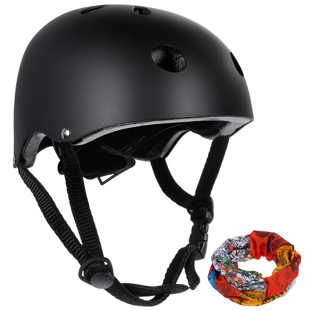 Zacro CE Certificated Classic Commuter Bike/Skate/Multi Sport Helmet with 11 Vents in Common Size (55-58cm), Black ZBH4-AUX-UK-1