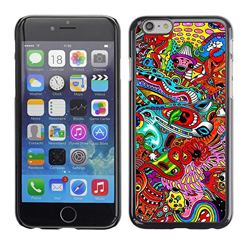 Abstract Pattern Psychedelic Art Apple iPhone 7 (4.7 inchesHard Printing Protective Cover Protector Sleeve Shell Case Cover