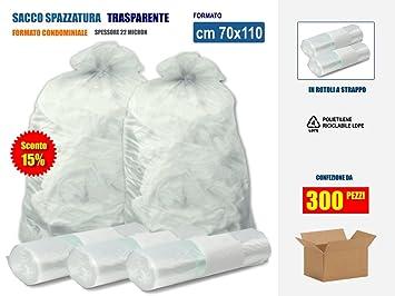 Bolsas de basura, transparentes, en plástico PE-LD, de 70 x ...